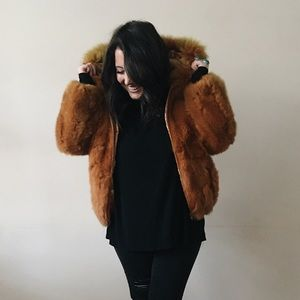 Vintage Genuine (Rabbit) Fur Jacket